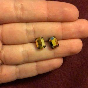 Gold shiny jewel earrings